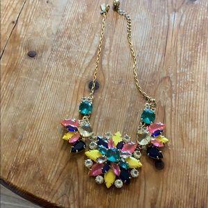 Kate spade multi colored stone necklace